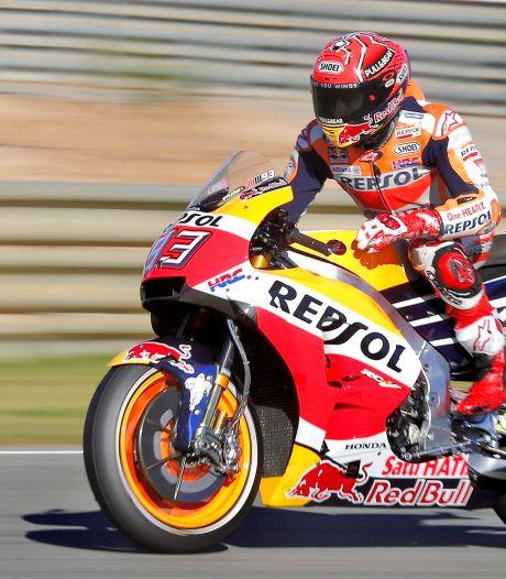 Márquez op pole, Van der Mark rijdt langzaamste tijd