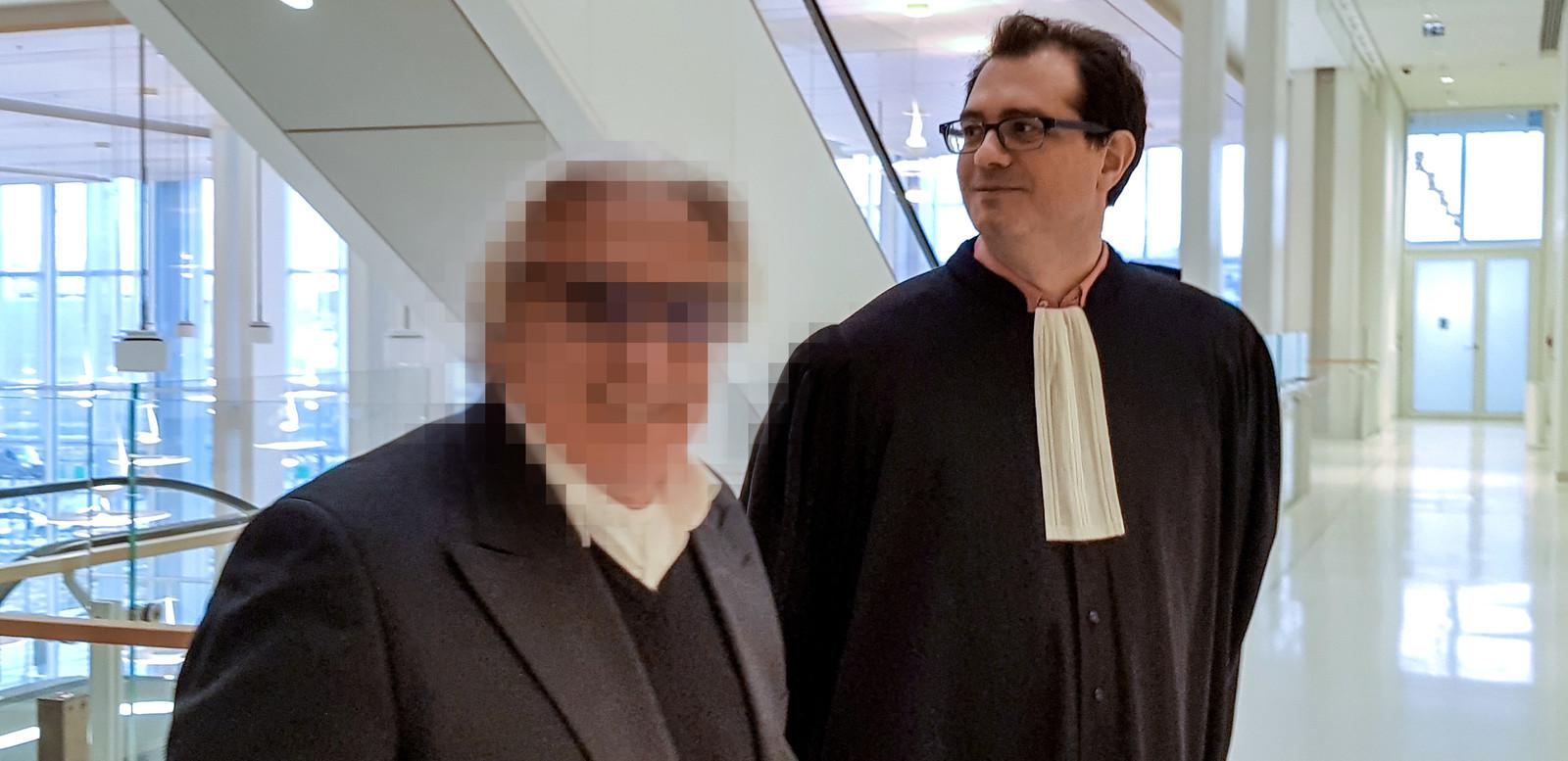 Jan F. voor de rechtbank tijdens een eerdere zaak in Frankrijk.