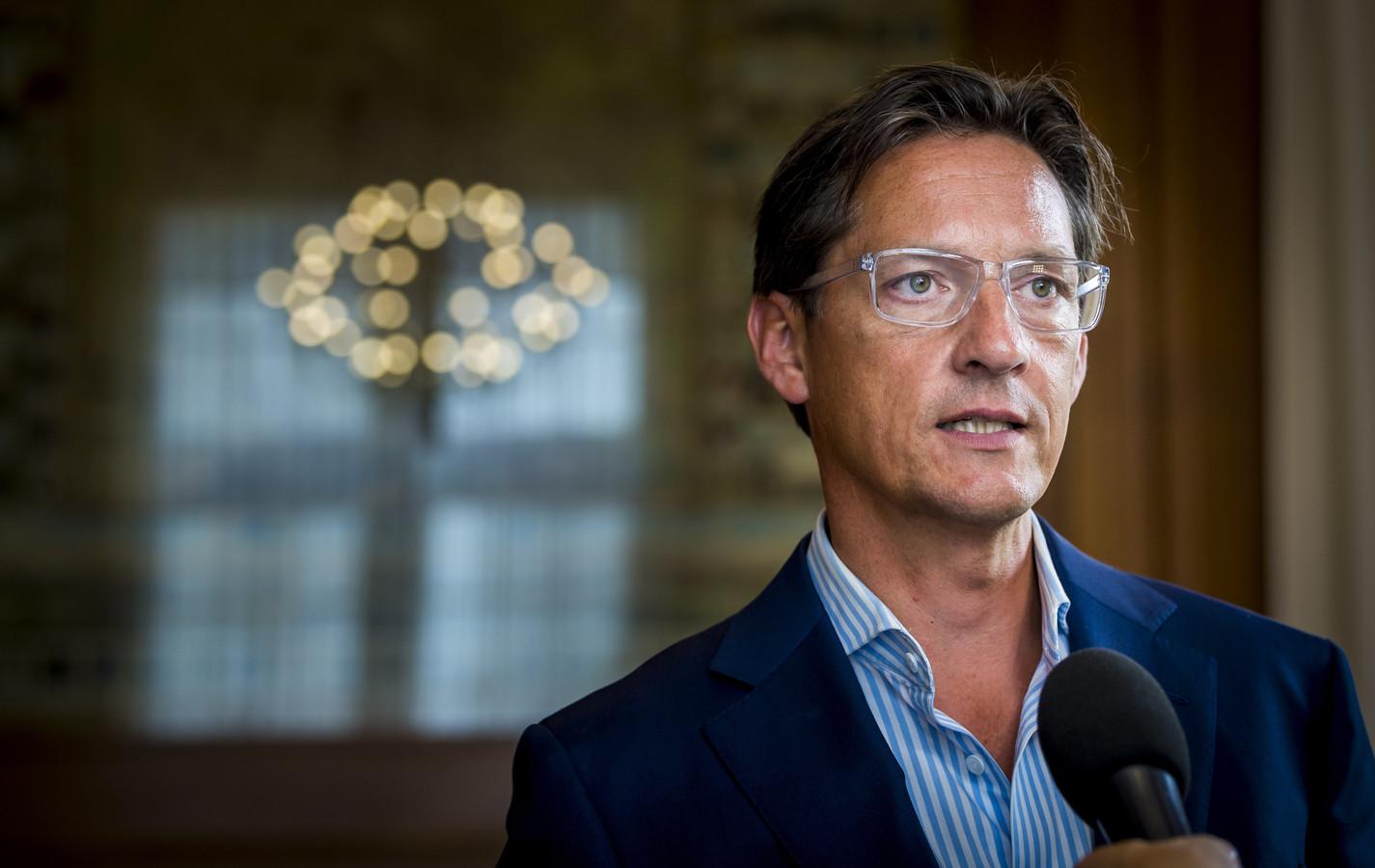 Leefbaar Rotterdam-leider Joost Eerdmans: ,,Hij is op deze manier in ieder geval van zijn meldplicht af.''