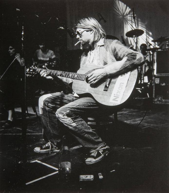 Gilet porté pour la dernière séance photo avec Nirvana, à l'été 1993