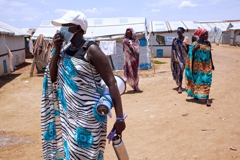 In Zuid-Sudan leven honderdduizenden mensen in chaotische en onhygiënische vluchtelingenkampen. Beeld Alex McBride/AFP