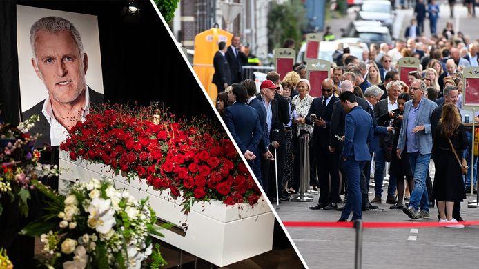 Familie, vrienden en collega's namen donderdag afscheid van van Peter R. de Vries tijdens een besloten dienst in het Koninklijk Theater Carré.