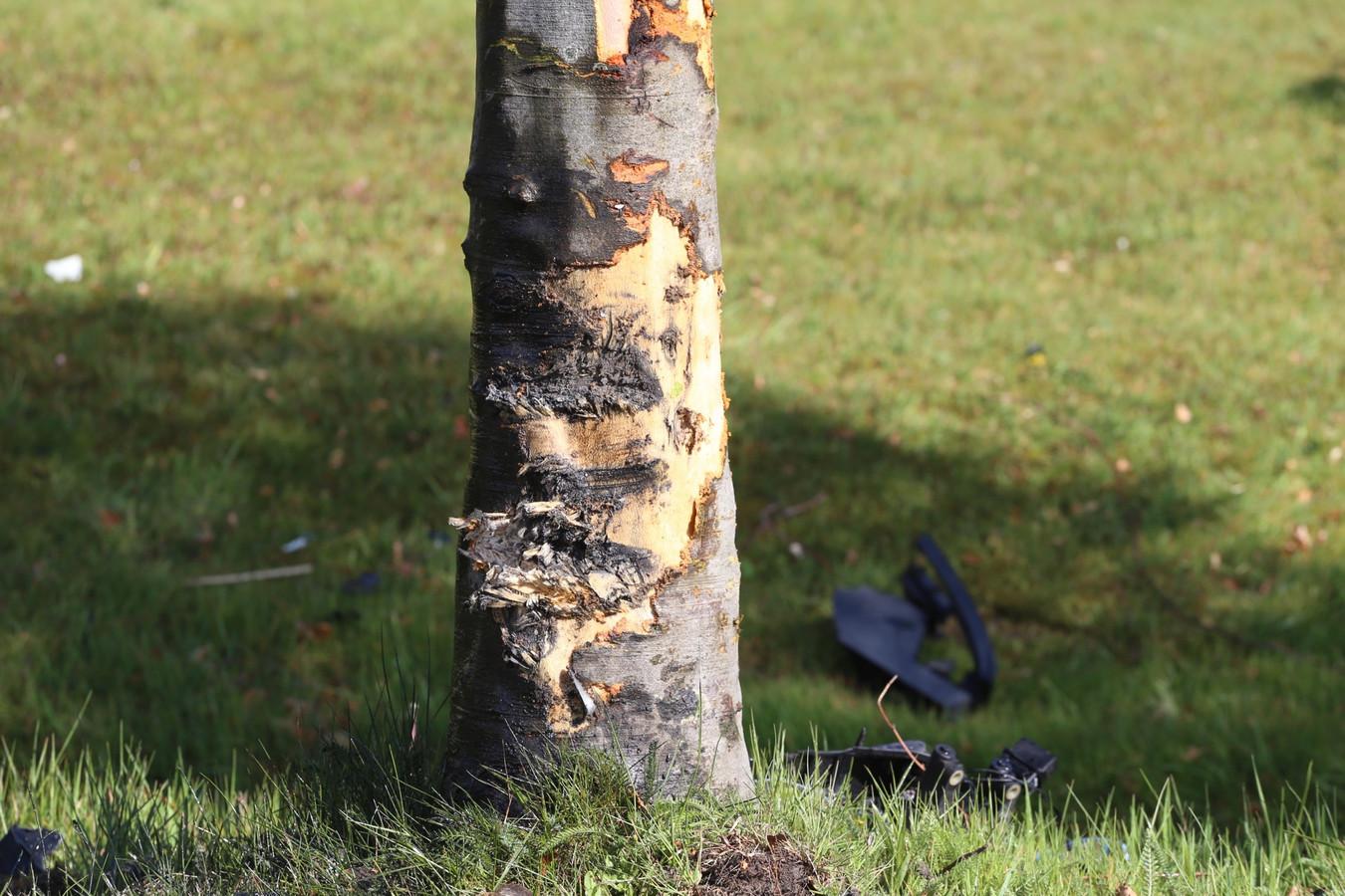 Bestuurder botst tegen boom in Sint-Oedenrode en raakt gewond.