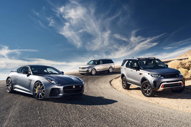 Enkele modellen van Jaguar Land Rover (JLR).