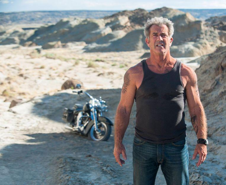 Mel Gibson als ex-crimineel in de actiethriller 'Blood Father', momenteel te zien in de bioscoop. Beeld RV
