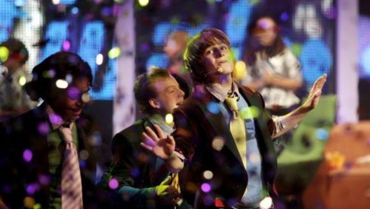 Ralf na het winnen van het Junior Songfestival in oktober (archieffoto, oktober 2009). ANP Beeld