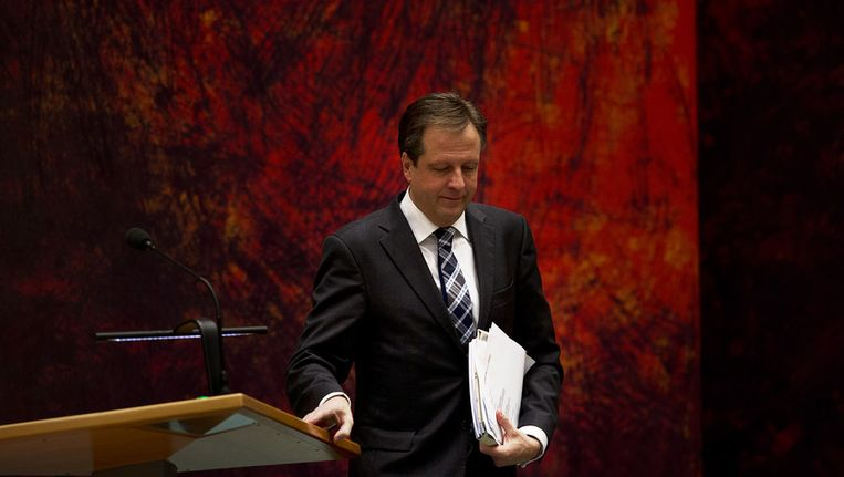 D66-leider Alexander Pechtold tijdens een debat in de Tweede Kamer Beeld ANP