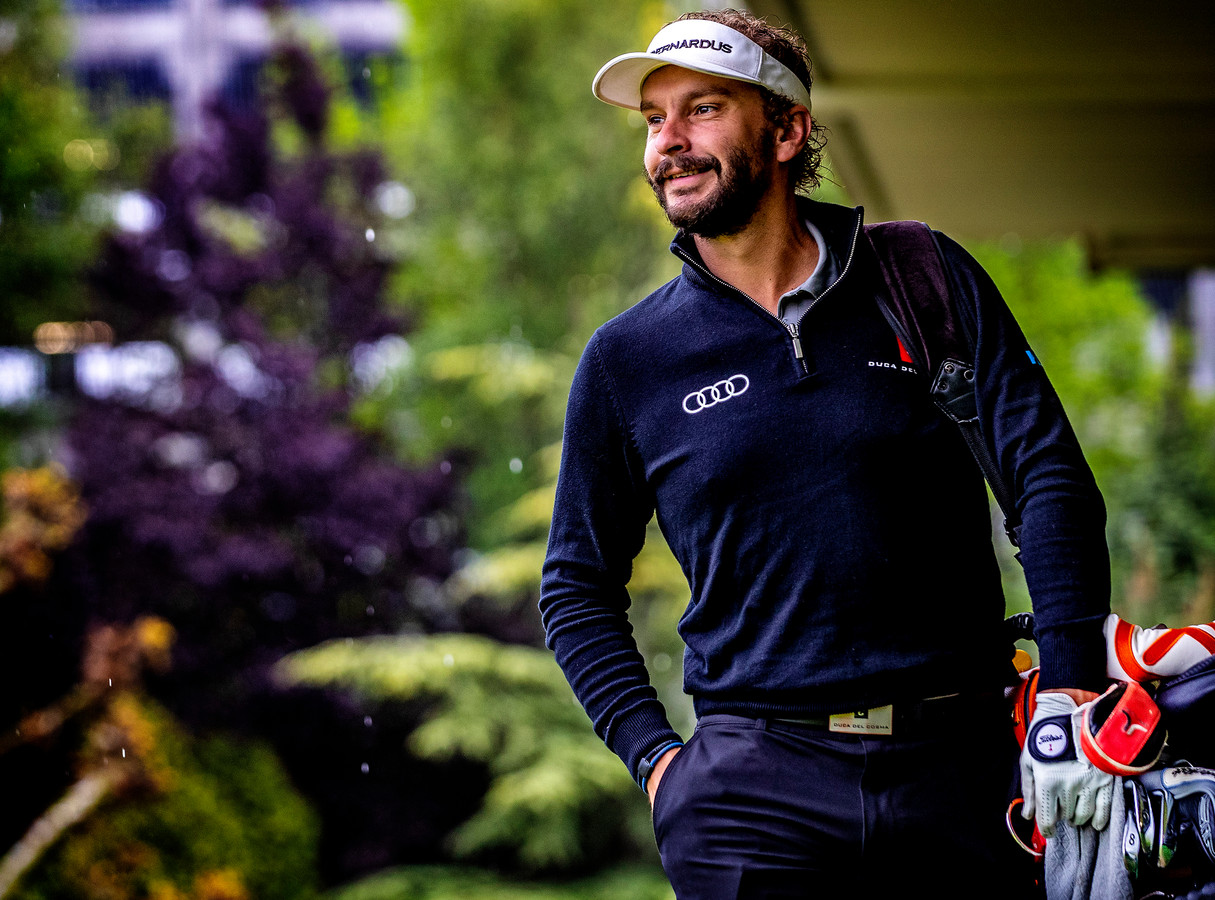 Portret Joost Luiten op golfbaan Seve in Rotterdam.