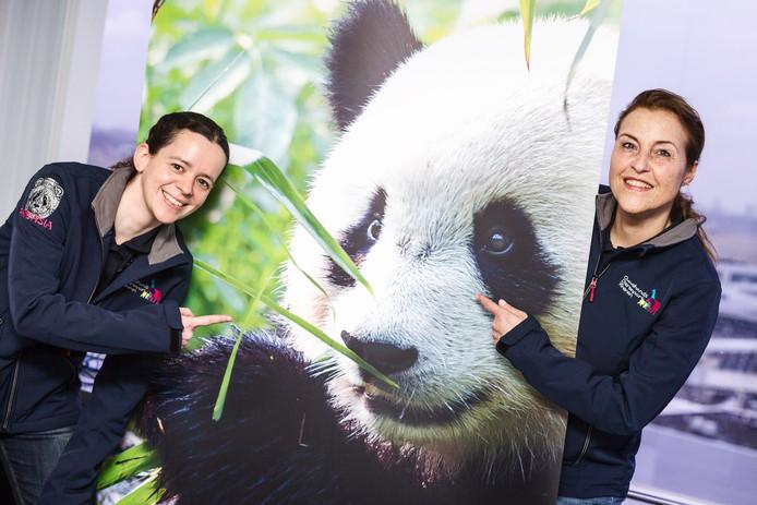 Brenda van Ekeren (links) en Marga Gerritsen gaan naar China om te leren over de panda's.