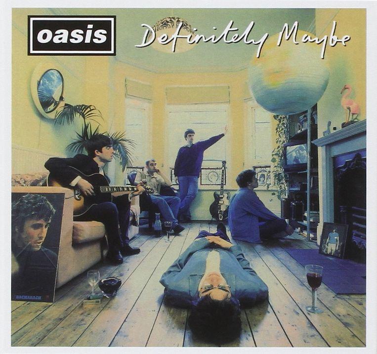 Definitely Maybe van Oasis werd gekozen tot beste album dat ooit in de Britse top 40 stond.   Beeld -