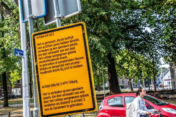 alcoholverbod minderjarigen voor korvelplein en omgevingartikel 69 lid 2 APV TilburgArtkel 69a lid 3 APV Tilburg