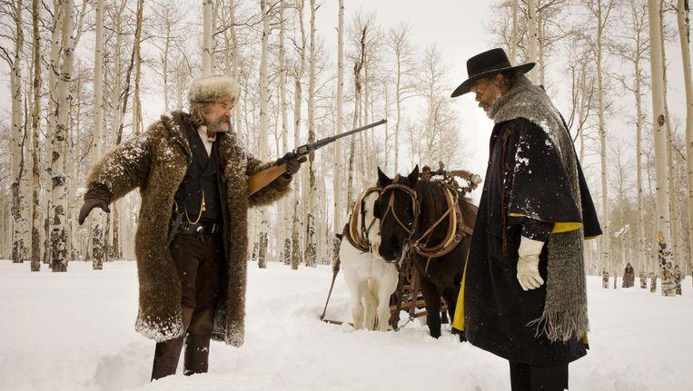 Een beeld uit 'The Hateful Eight', de film van Quentin Tarantinon waarvoor Ennio Morricone de soundtrack componeerde. Beeld kos
