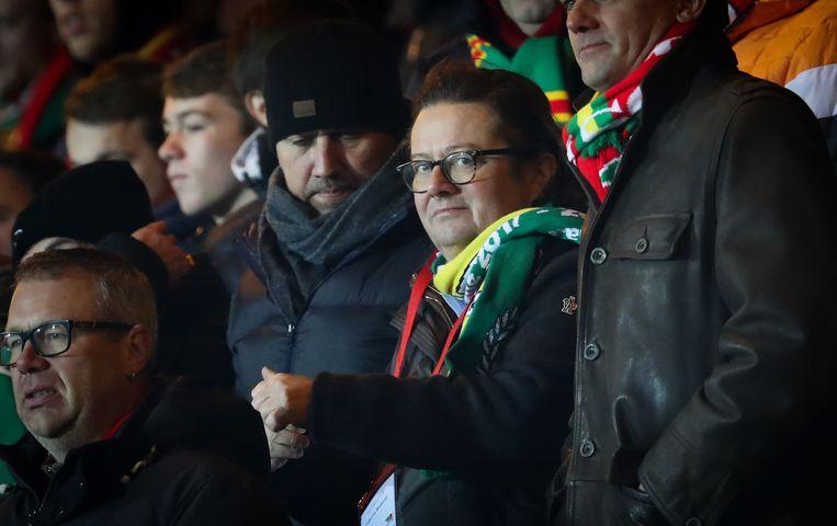 KVO-voorzitter Marc Coucke is een aandachtig supporter in de Versluys Arena.
