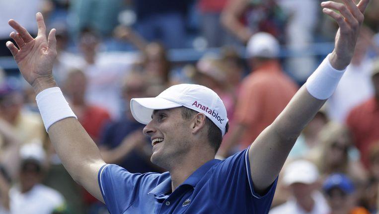 Jong Isner verraste de als eerste geplaatste Serviër Novak Djokovic. Beeld ap