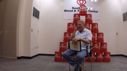 Man doneerde al 470 liter bloed en kon zo al duizenden mensen redden