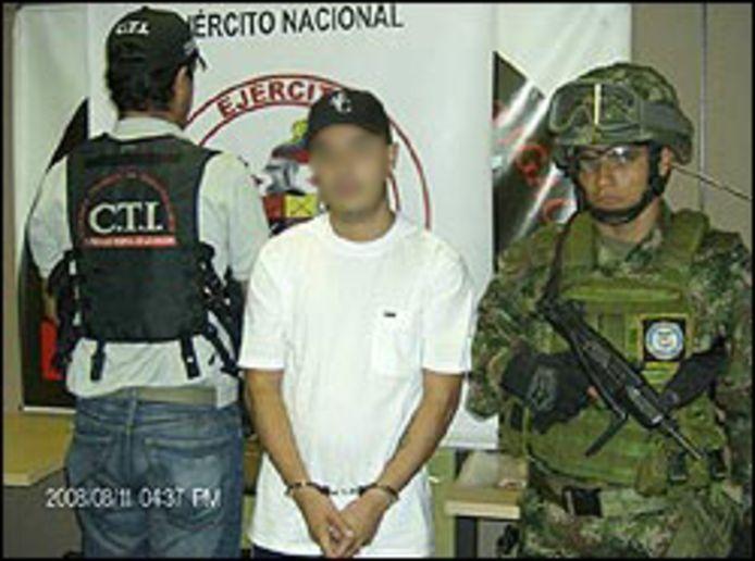 Alejandro C. werd eerder opgepakt in zijn geboortestad Medellín.