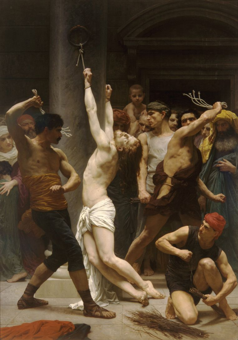 'De geseling van Jezus voor de kruisiging' door William-Adolphe Bouguereau (1825-1905), collectie kathedraal Saint-Louise de la Rochelle. Beeld Heritage Images/Getty Images