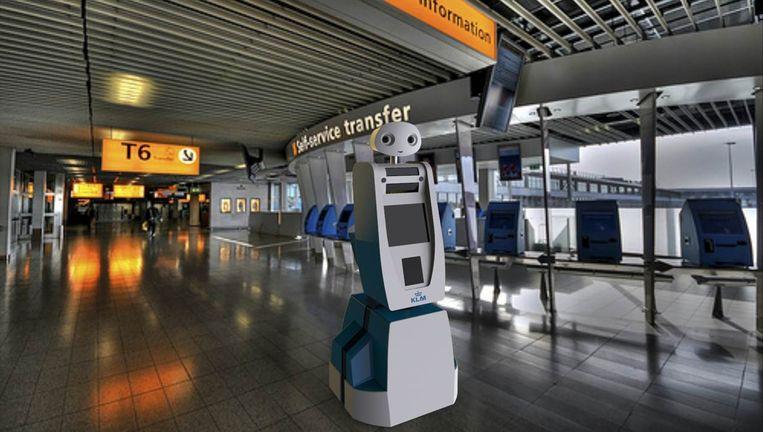 Robot Spencer Beeld KLM