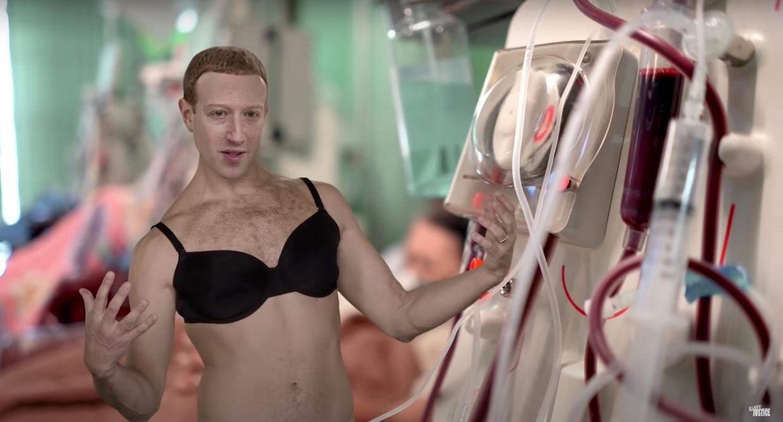 Een satirisch deepfake beeld van Mark Zuckerberg van het YouTube-kanaal Sassy Justice. Beeld Sassy Justice