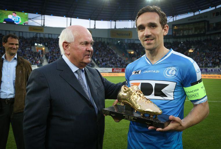 Wie volgt Sven Kums op en mag de Gouden Schoen dit jaar in ontvangst nemen? Beeld BELGA