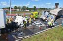 Ernstig ongeluk vlak voor de grensovergang in Hazeldonk, de weg is daar dicht.