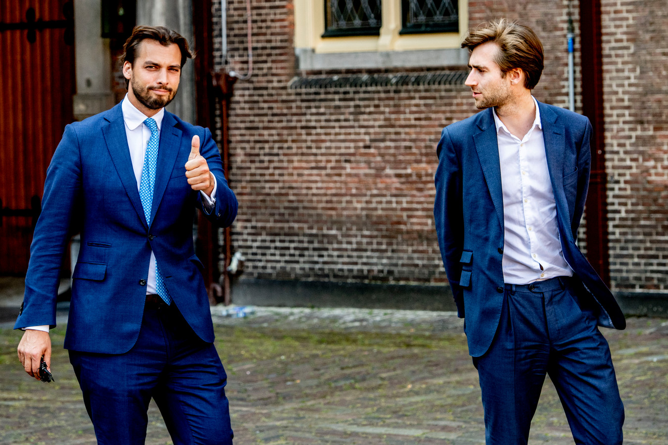 Baudet en zijn boezemvriend Freek Jansen.