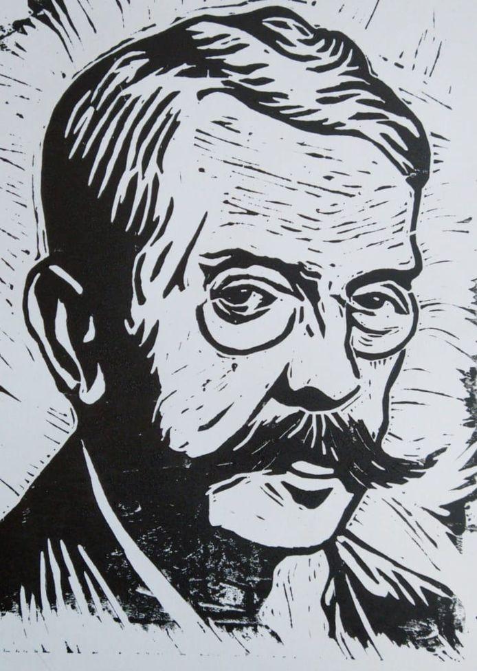 Tekening van de dichter P.C. Boutens