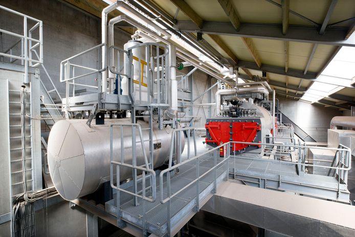 De Biomassacentrale van pluimveebedrijf Smits in Rijen.
