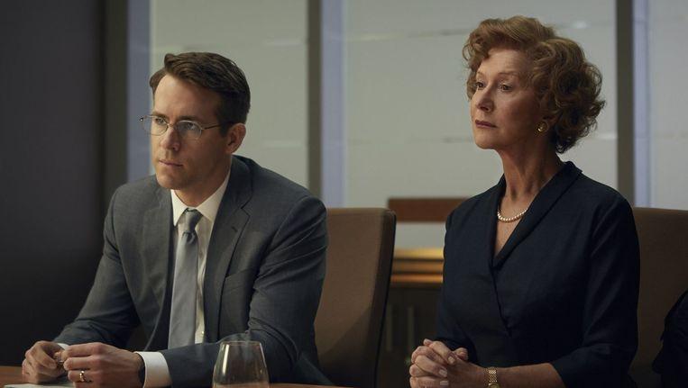 Ryan Reynolds en Hellen Mirren in 'Woman of Gold'. Beeld PHOTO_NEWS
