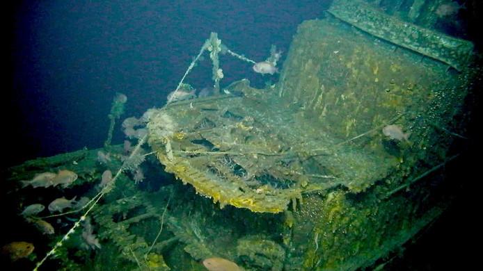 De Grayback zonk naar een diepte van 426 meter na te zijn geraakt door een Japanse bom.