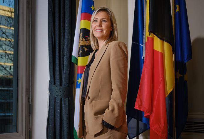 Ludivine Dedonder (PS), minister van Defensie.