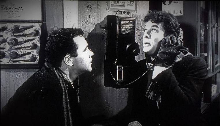 Jack Lemmon (links) en Tony Curtis in Some Like it Hot (1959) van Billy Wilder Beeld null