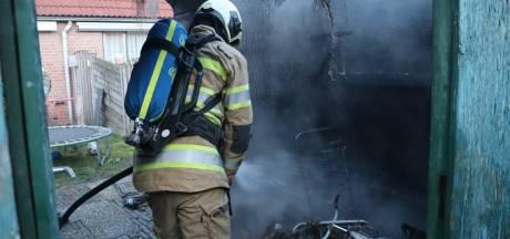 Felle brand in schuurtje in Achterveld