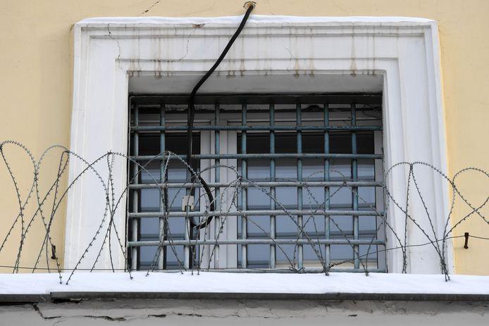 Een foto genomen op 19 januari 2021 toont Moskou's penitentiair centrum nummer 1, bekend als Matrosskaja Tisjina.