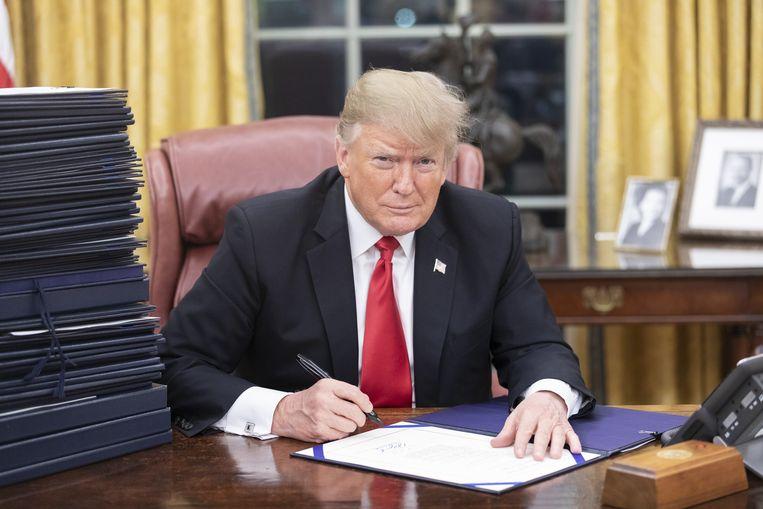 Amerikaans president Donald Trump. Beeld Photo News