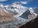 Een smeltende gletsjer in de Himalaya.