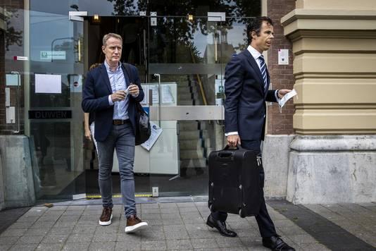 Vincent Wevers verlaat de rechtbank in Zutphen.