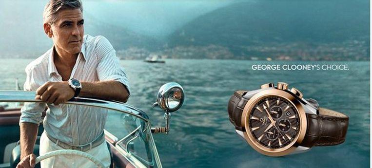 George Cloony in een advertentie voor Omega. Beeld screenshot
