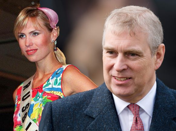 Prins Andrew en voormalig Miss Rusland Anna Malova