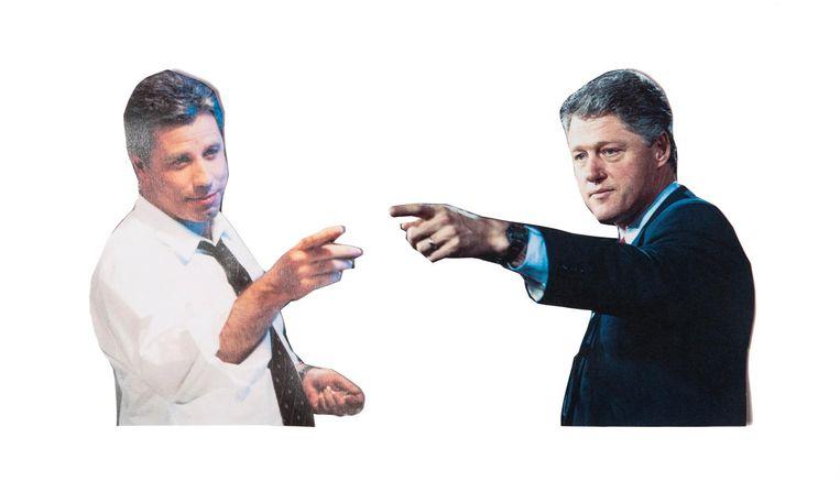 Joe Klein, gebaseerd op Bill Clinton, gespeeld door John Travolta. Beeld Studio V