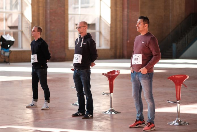 De drie finalisten, vlnr.: Preben, Stijn en Karim.