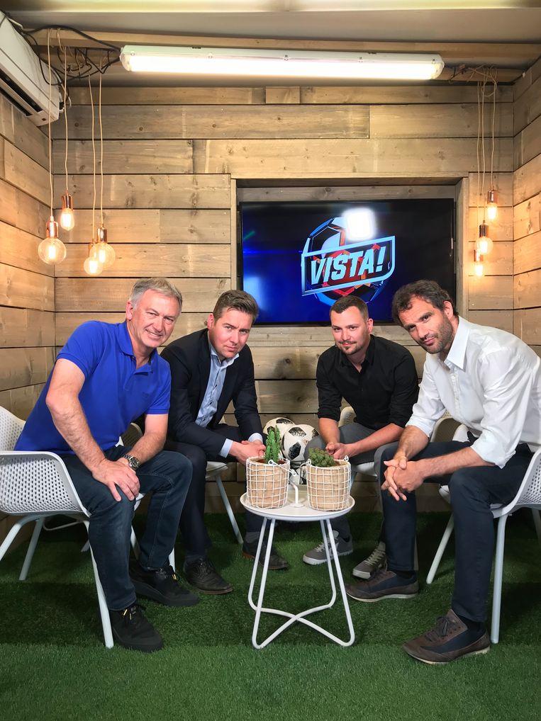 Vincent Mannaert twee weken geleden in onze VISTA!-studio met Marc Degryse, Nicolas De Brabander en Stephan Keygnaert.