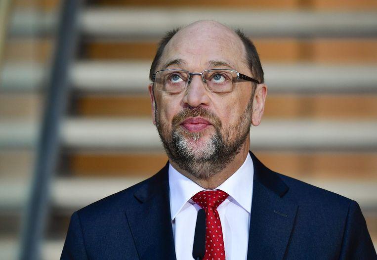 Foto van Martin Schulz eerder deze maand. Beeld AFP