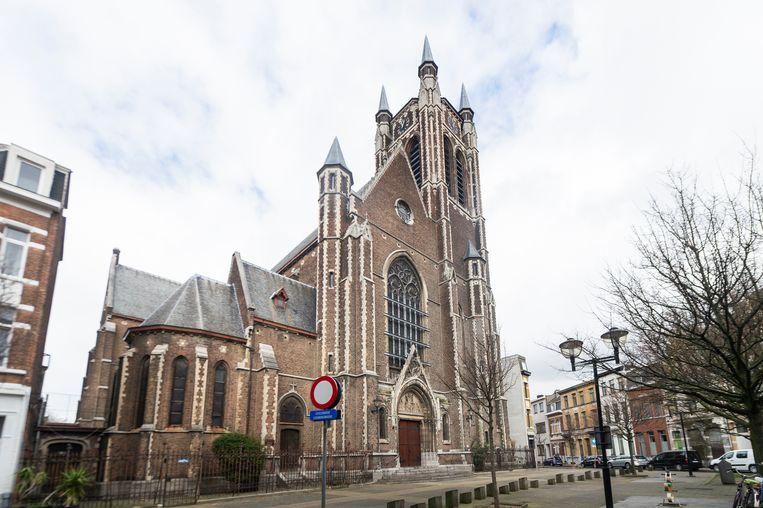 De Sint-Hubertuskerk in Berchem. Beeld Klaas De Scheirder