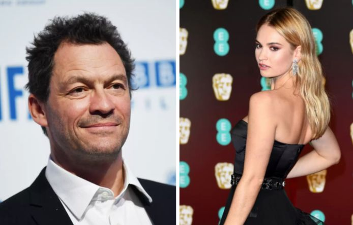 Dominic West en Lily James.