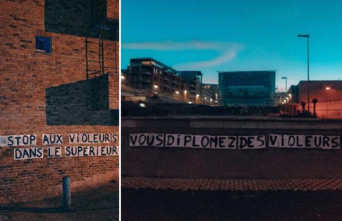 """Depuis le début du mois de mars, une campagne d'affichage choc a lieu à Louvain-la-Neuve. """"La Meute"""" en est à l'origine."""