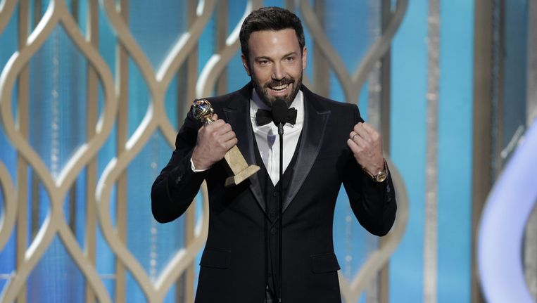 Ben Affleck ging met de Globen Globe voor beste regisseur aan de haal voor de film 'Argo'. Beeld GETTY