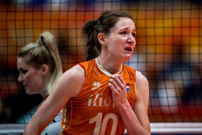 Lonneke Sloetjes is één van de drie dames die besloot te stoppen met topvolleybal.