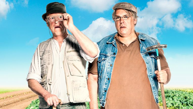 Arjan Ederveen en Jack Wouterse staan met de buitenvoorstelling 'Walden' op het Theaterfestival Oerol. Beeld Ro theater