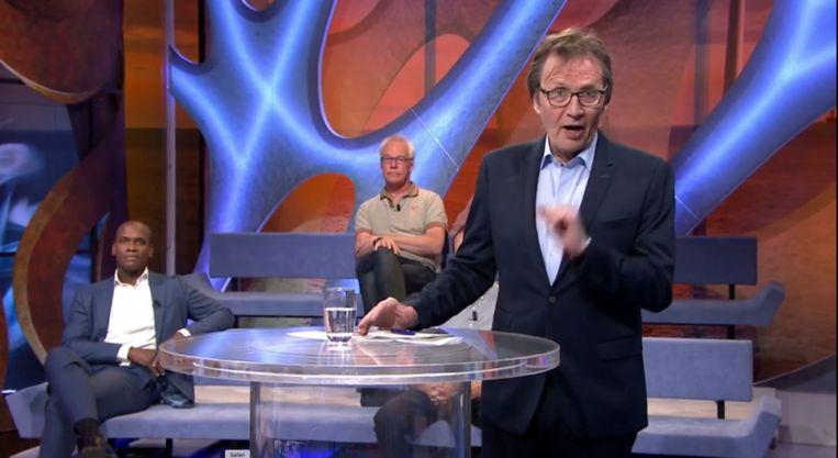 Cees Grimbergen tijdens de uitzending van Hollandse zaken. Beeld Omroep MAX